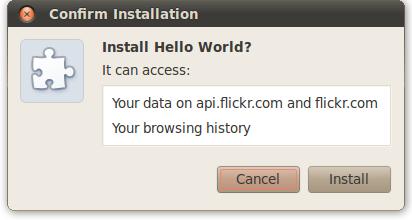 权限提醒:'It can: Access your data on api.flickr.com and flickr.com; Read and modify your browsing history'