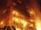 广西一在建18层高楼突发火灾