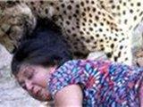 女子为解救小孩惨遭猎豹撕咬