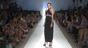 波西米亚黑色长裙性感大狂欢 典雅里的别样超模魅力
