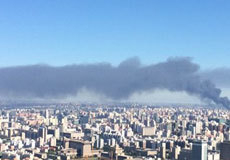 北京大红门木材厂起火