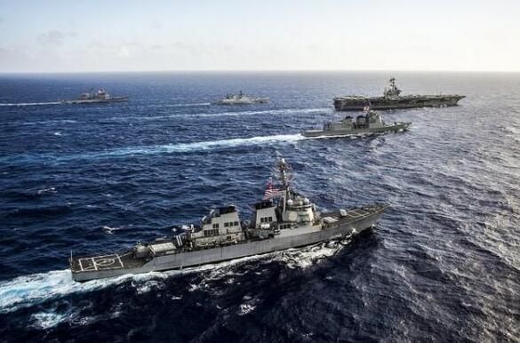 航母集结 美日印开始印度洋联合军演