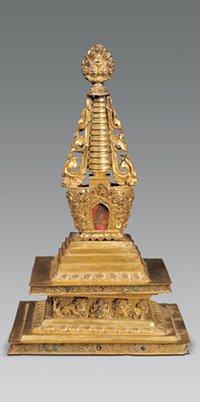 在印度各处设置了八万四千座佛舍利塔
