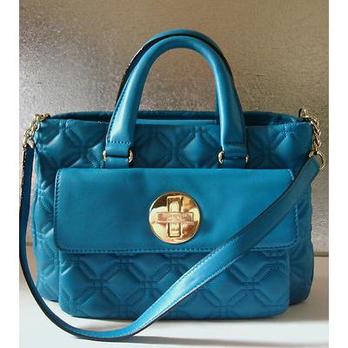 真皮天蓝手提包