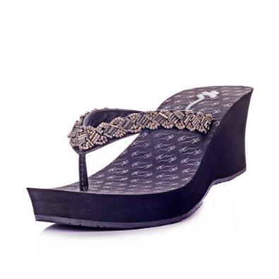 凉拖鞋 女 坡跟 钻,凉拖鞋女