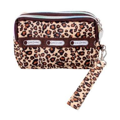 动物世界三拉链手包零钱包