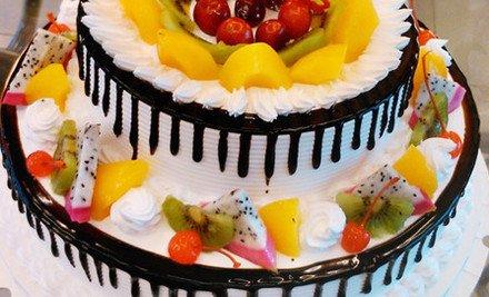 欧式水果双层夹心蛋糕1个