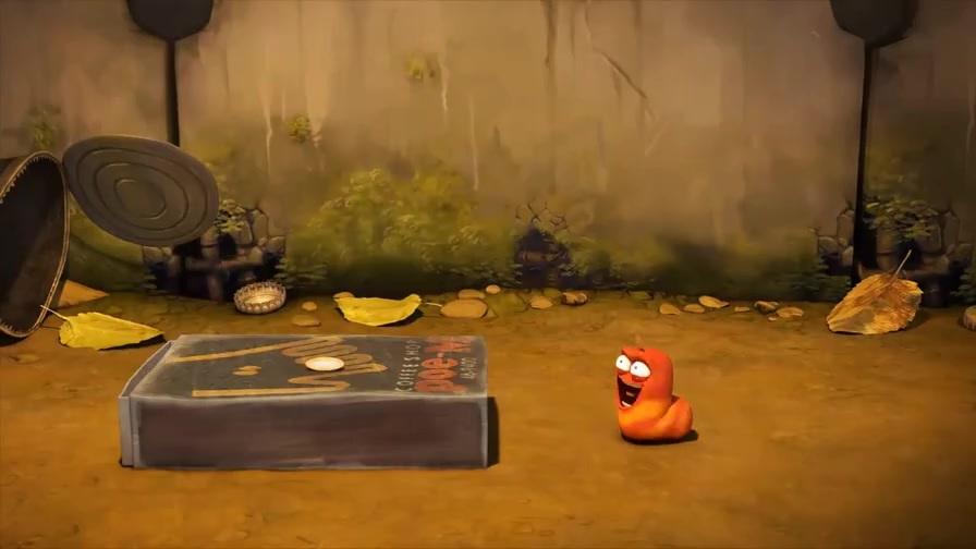 爆笑虫子:小黄长出超长鼻涕,俩人开启食物大战!