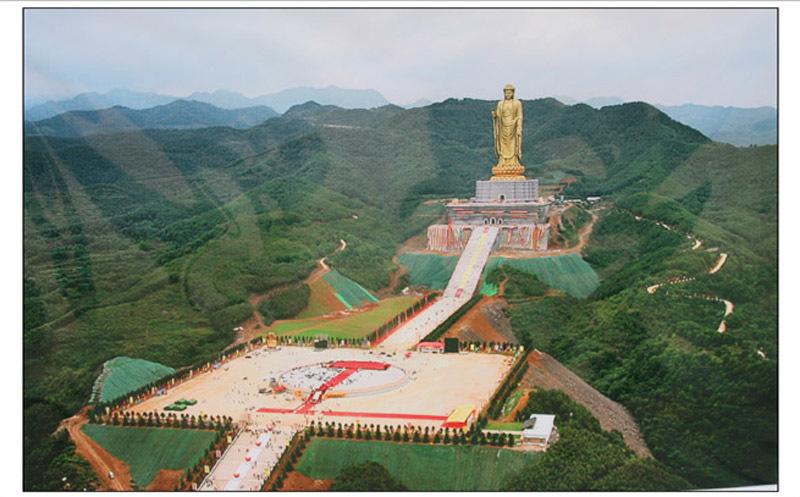 河南尧山风景区平面图