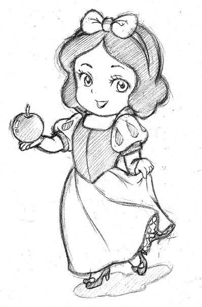 可爱公主简笔画很简单很简单