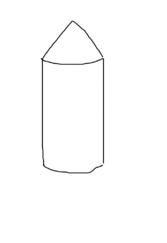 幼儿园火箭简笔画