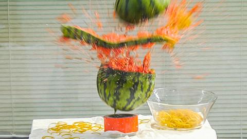 5公斤西瓜+钠,还原小范围爆炸特效!