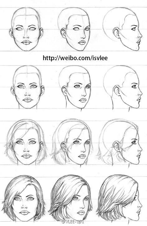 漫画人物的侧面脸部怎么画?