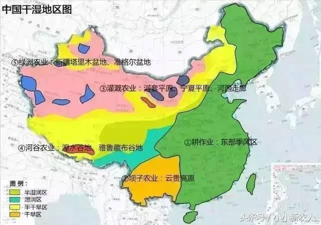 中国农业地图:身为中国人一定要看懂