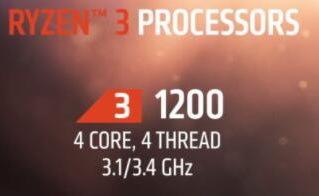 AMD公布两款Ryzen 3处理器 发售日期定于7月27日售价未知