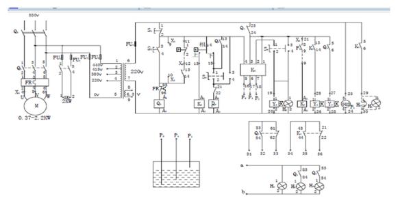 """锅炉电气控制原理图(图2)  锅炉电气控制原理图(图4)  锅炉电气控制原理图(图6)  锅炉电气控制原理图(图8)  锅炉电气控制原理图(图10)  锅炉电气控制原理图(图13) 为了解决用户可能碰到关于""""锅炉电气控制原理图""""相关的问题,突袭网经过收集整理为用户提供相关的解决办法,请注意,解决办法仅供参考,不代表本网同意其意见,如有任何问题请与本网联系。""""锅炉电气控制原理图""""相关的详细问题如下:锅炉改造的风机控制过程:引风机启动10秒后鼓风机才能启动。停车时,鼓风机停机10秒后引风机才能停机。"""
