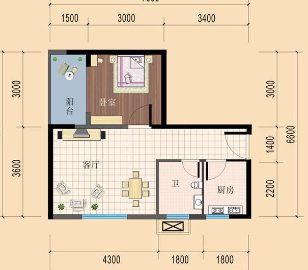 农村8x8房子设计图