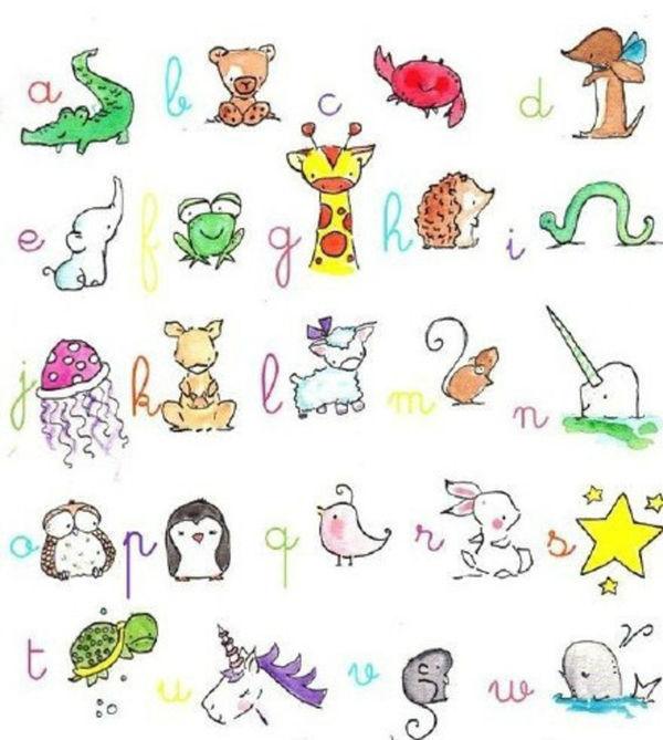 小动物简笔画图片加颜色