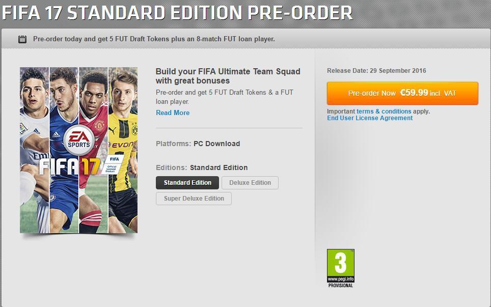 《FIFA 17》中文版开启预购