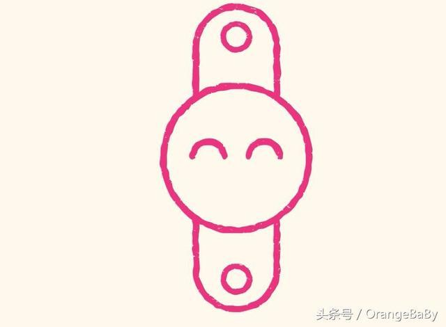 亲子创意简笔画日常生活用品米兔儿童手表,就要简单!图片