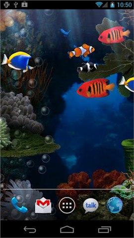 热带水族馆动态壁纸截图3