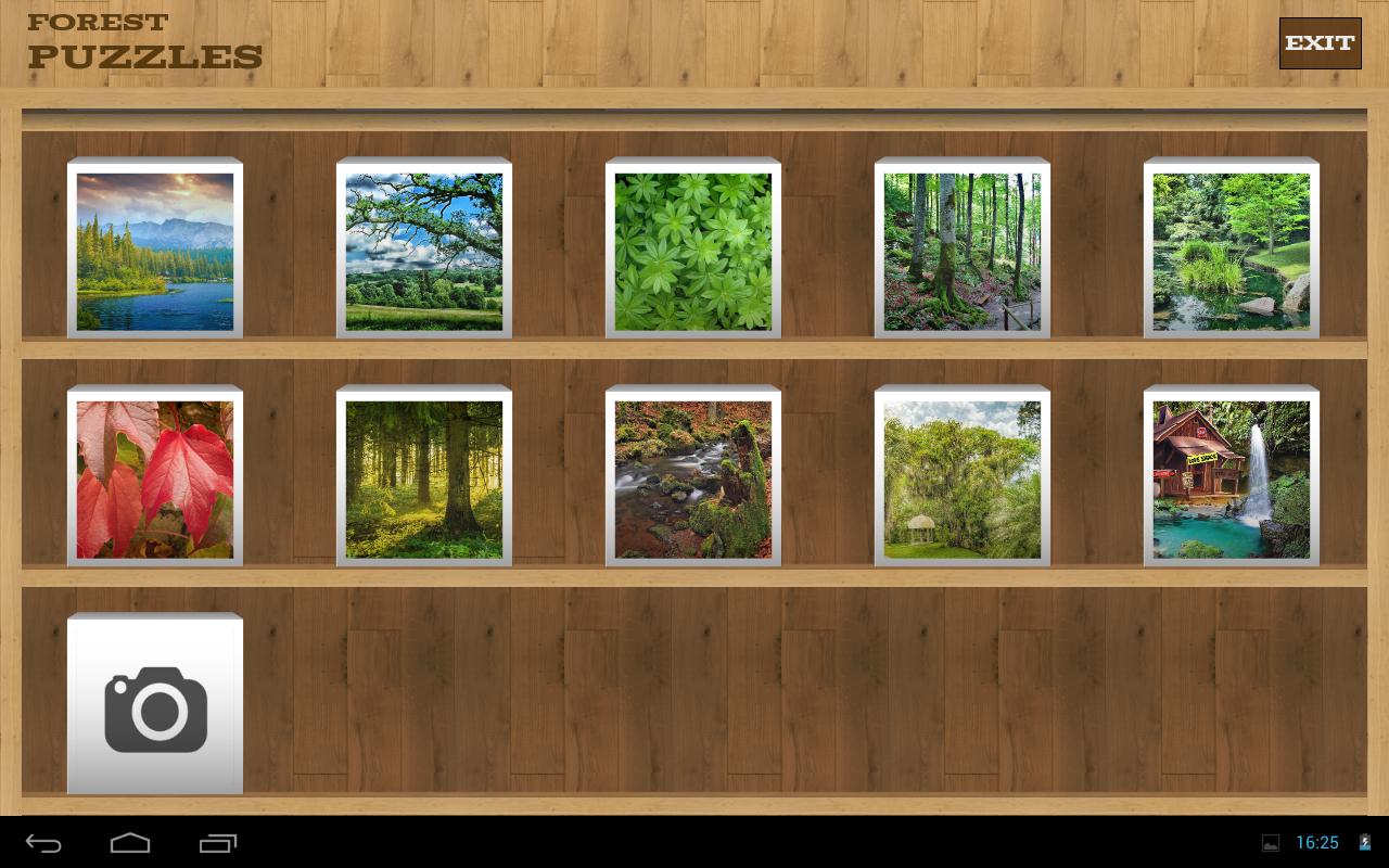 森林拼图 - 明亮拼图壁纸拼图比赛与美丽的森林图像。当您解决任何拼图可以设置森林图像作为壁纸。 森林拼图比赛有惊人的森林,林木与乡村图像的集合。它们中的任何可用于玩拼图的壁纸后,你完成森林拼图可以设置为您的设备的背景。 有人会发现惊人的风景拼图度过空闲时间和享受。 森林拼图游戏特色: - 拼图旋转。所以,你将不得不使用双击来旋转它们- 详细统计存储您解决难题,分数和时间,你已经花了解决壁纸拼图游戏- 你可以从设备上传自己的图片/壁纸来解决可爱的水果壁纸拼图游戏- 您的进度将被保存。您可以停止解决森林壁纸