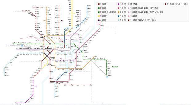 上海市地铁交通地图谁能提供一下