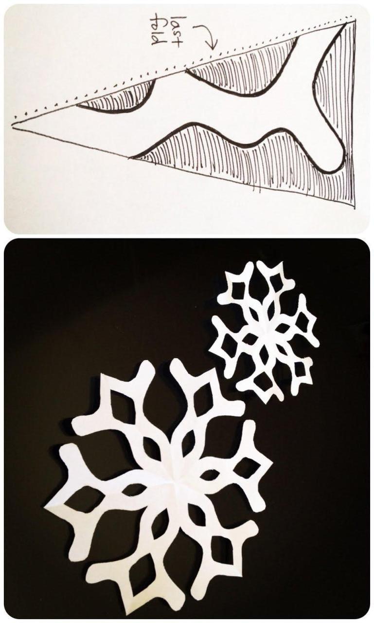 剪纸雪花_图解步骤