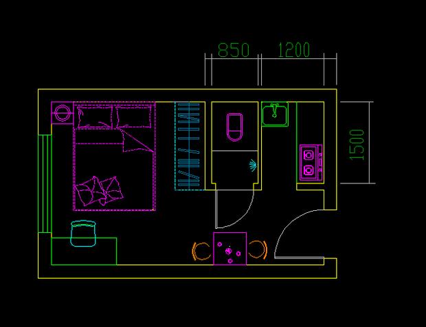 求15平米左右房屋平面图