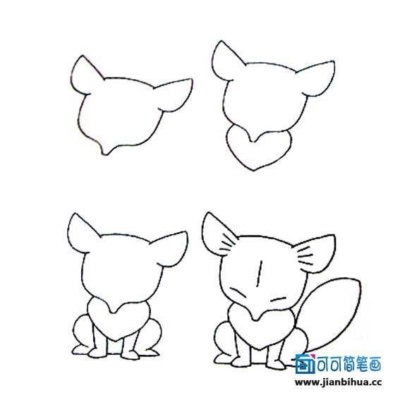 小动物们的简笔画教程