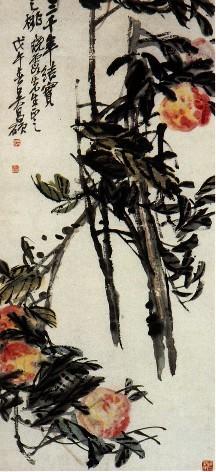 """任伯年之父鹤声,号淞云,据说是一个米商又是一个民间画师,""""善画又善"""