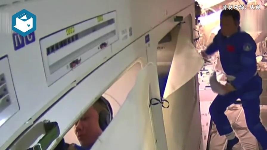 神舟十二航天员的清晨生活:6点不到就亮灯,刷完牙牙膏吞进肚