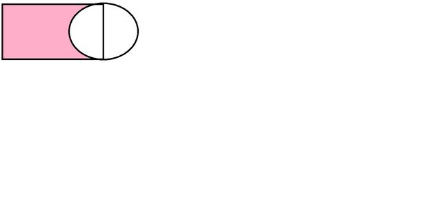 7cm,长方形的面积与圆的面积比是3:2.图中涂色部分的周长是多少厘米?