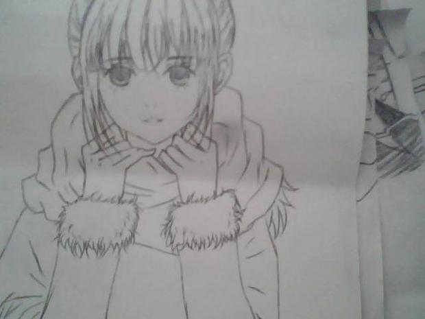 可爱女生动漫 笔图