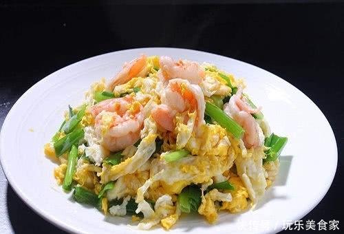 营养丰富的美食,鸡蛋炒虾仁的做法