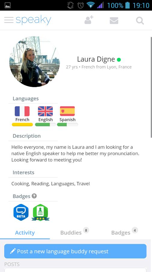 语言学习互助Speaky截图1