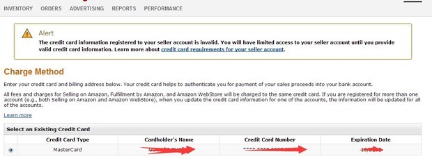 注册美国亚马逊卖家账户显示信用卡无效_360