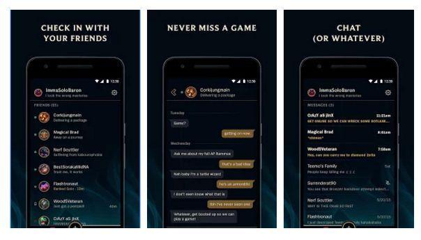与撸友随时保持联系 《英雄联盟》推官方App