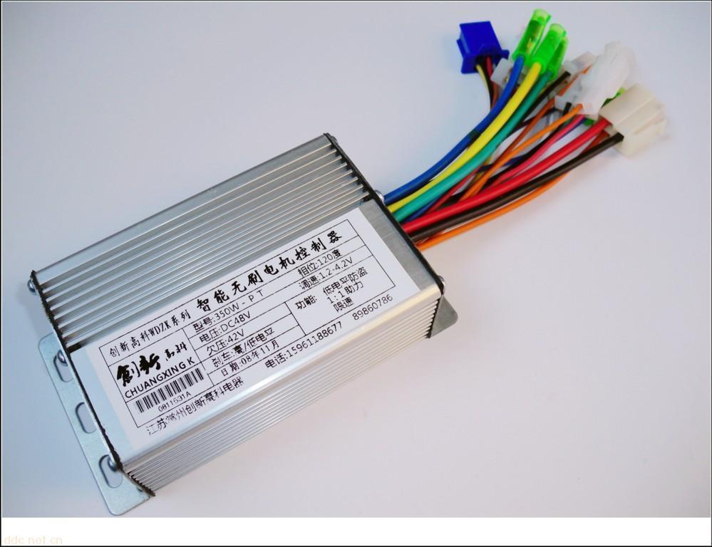 电动三轮18管60v控制器接线图