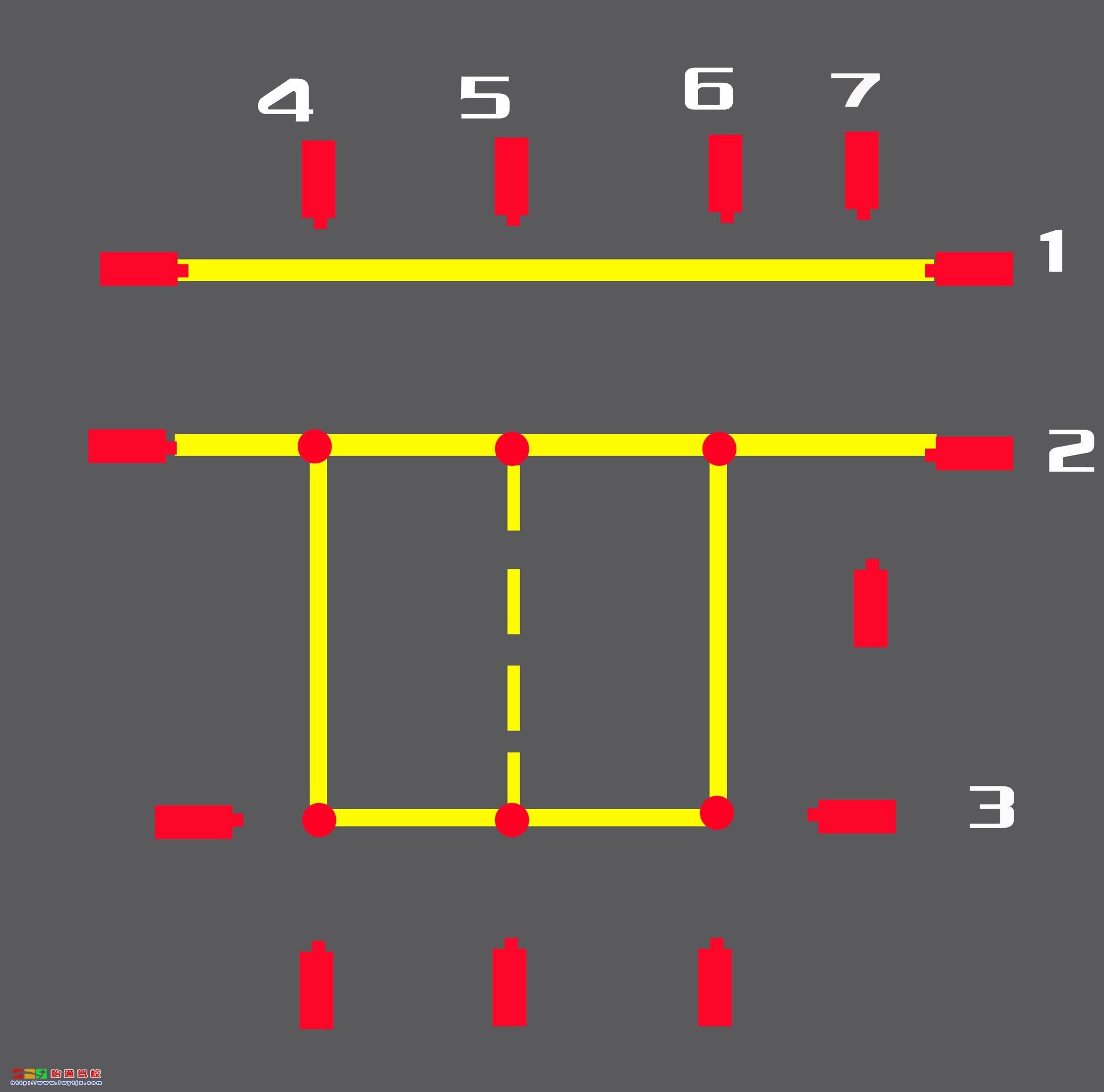 线光路,分别由红外线发射器和接收器组成,用于检测考车行驶中的悬空,6