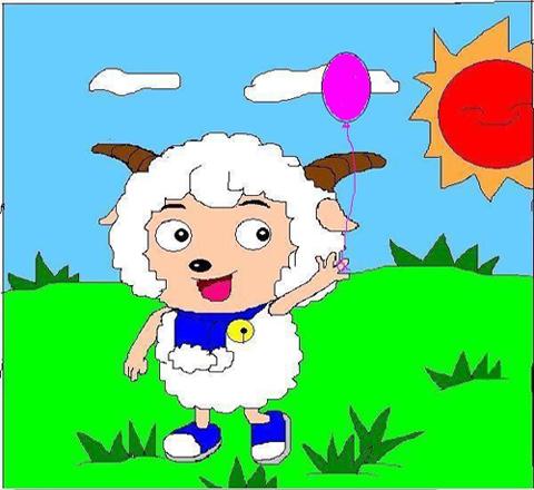 空用什么点缀 简笔画由于画得太小 导致画面太空 画的是喜羊羊 求建议
