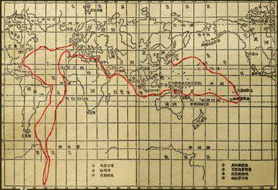 【海底两万里】航海线图,八个主要事件,地点及
