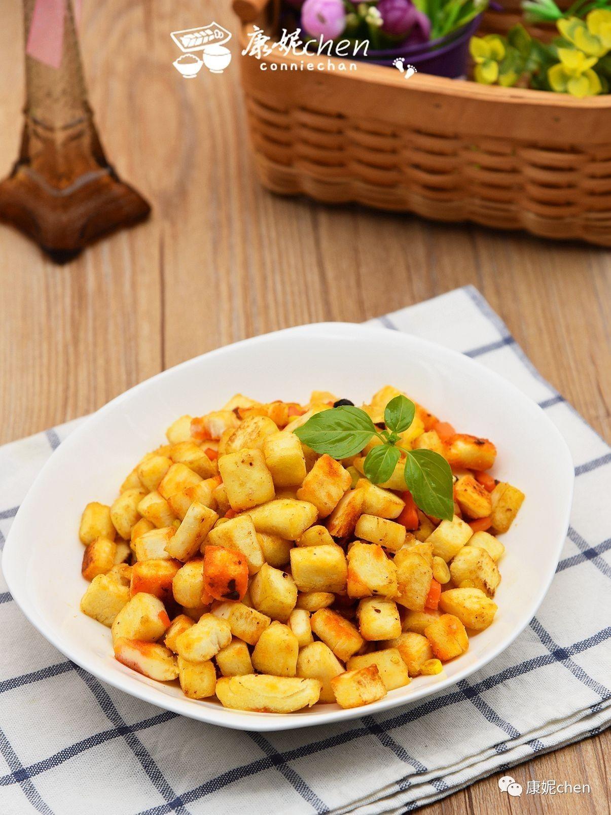 馒头新吃法,色泽金黄,快手早餐也能营养均衡