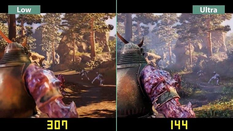 《影子武士2》高低画质对比