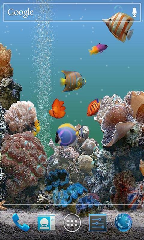 海底世界背景图片,设置壁纸后可以再屏幕上随意的滑动,还有超萌数字