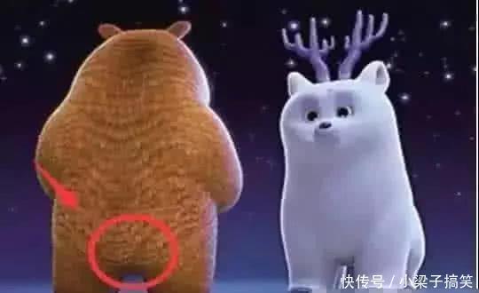 """""""笑到胃疼""""的穿帮镜头,光头强的脚怎么了?熊二的尾巴不见了?"""
