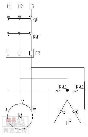 普通电机制动电路图