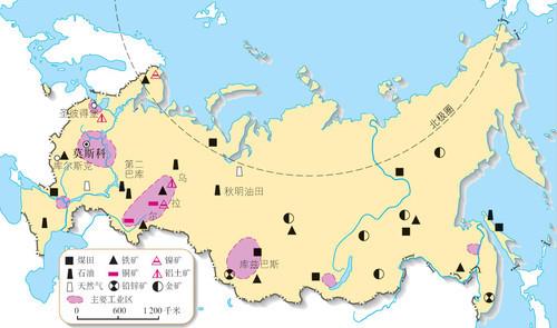 西西伯利亚天然气田几乎都分布在秋明州内