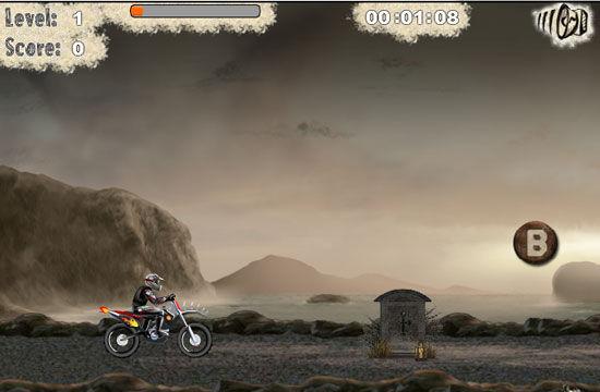 骑摩托撞僵尸