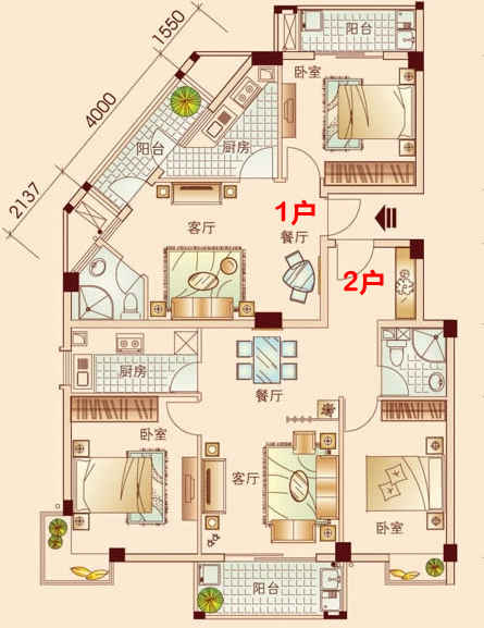 6米*15米农村小户型跃层设计图展示